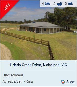 Real estate appraisal Nicholson VIC 3882