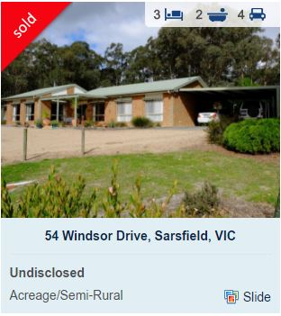 Real estate appraisal Sarsfield VIC 3875