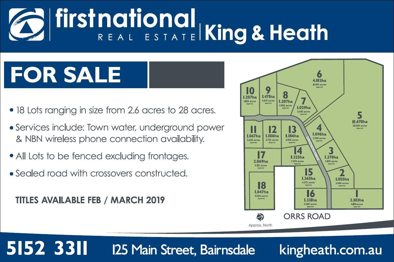 Lot 1 235 Orrs Road, Bairnsdale VIC 3875-1