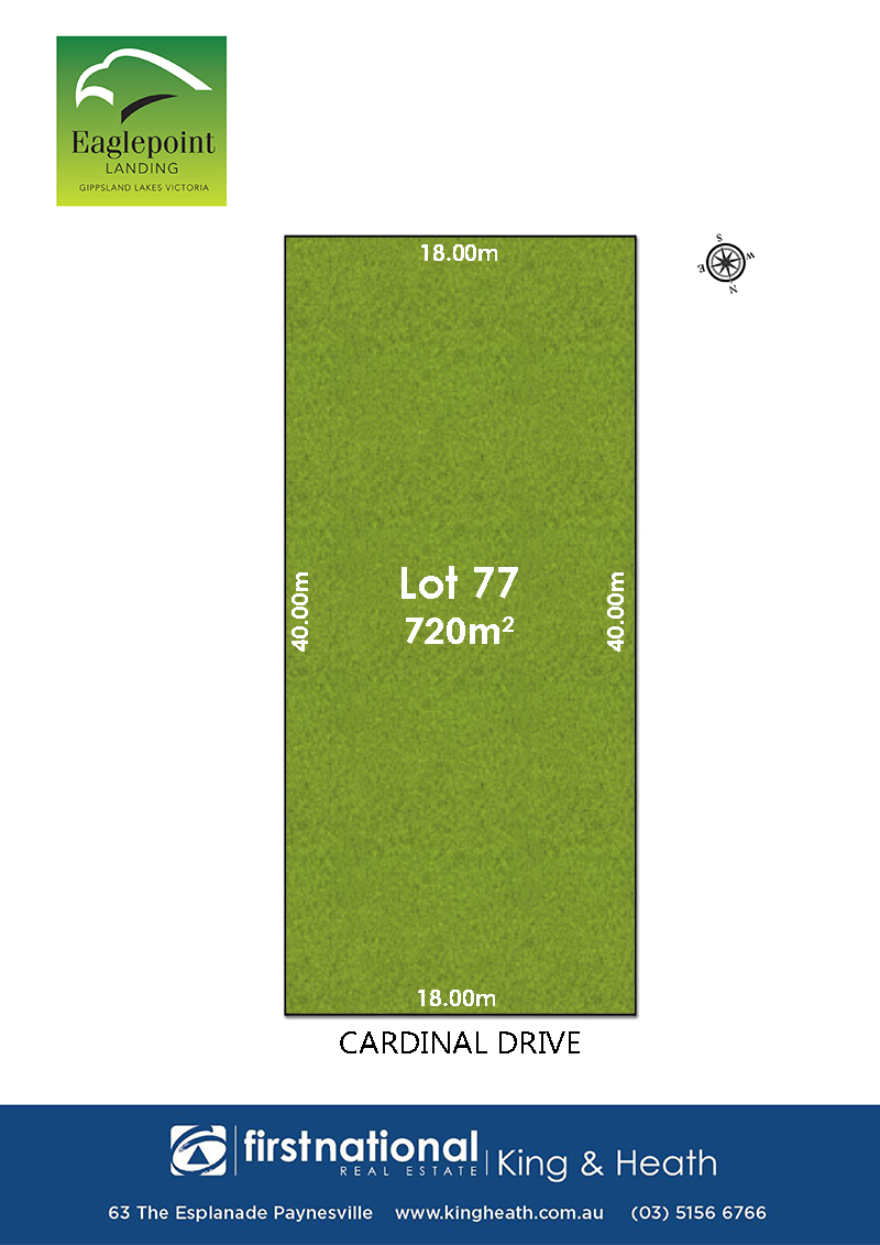 Lot 77, 34 Cardinal Drive, Eagle Point VIC 3878-1