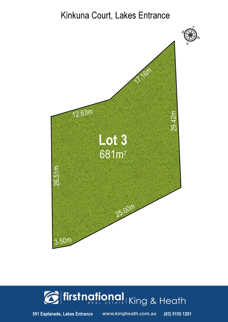 Lot 3, 9 Kinkuna Court, Lakes Entrance VIC 3909-1
