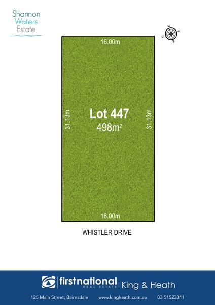 Lot 447 Whistler Drive, Bairnsdale VIC 3875-1